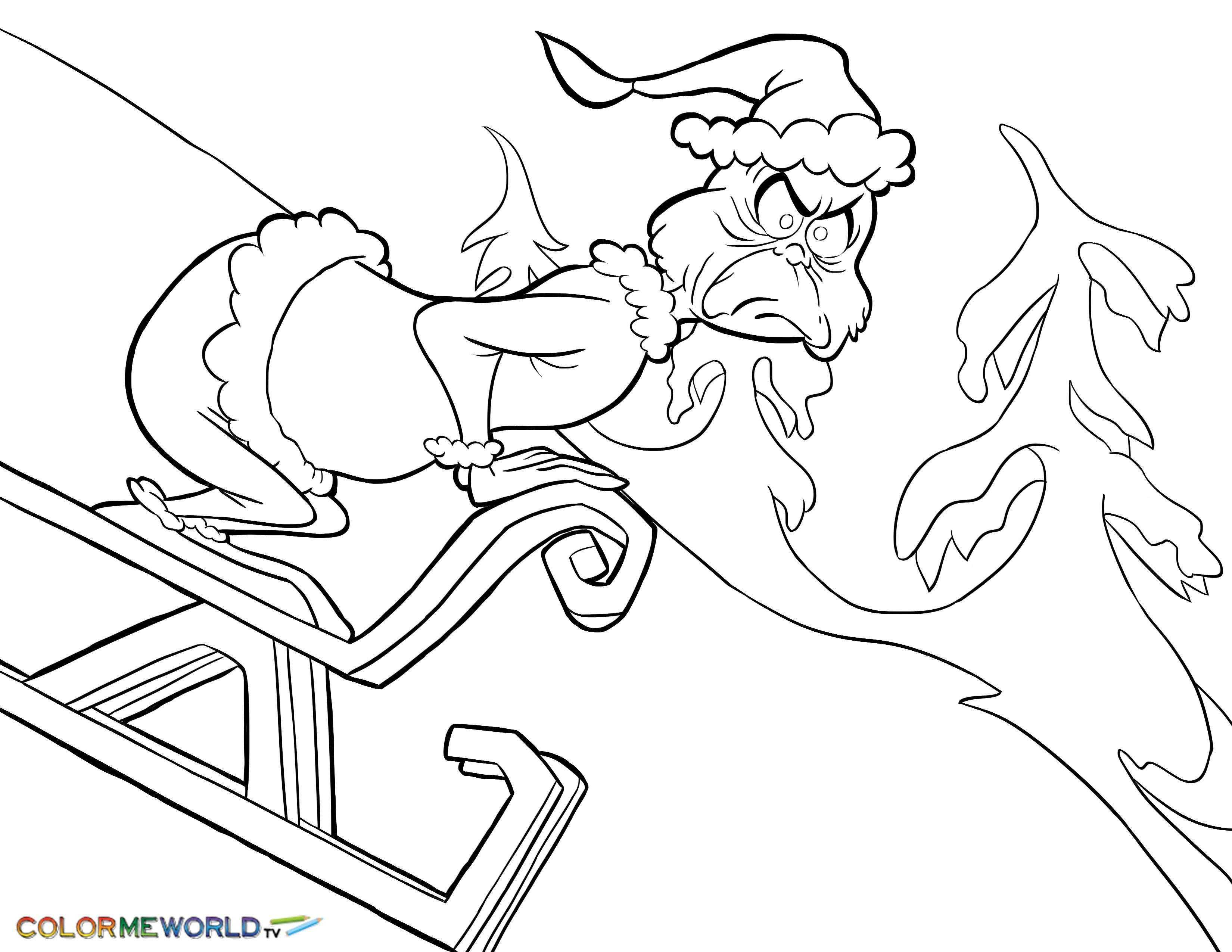 Ten on the sled coloring pages