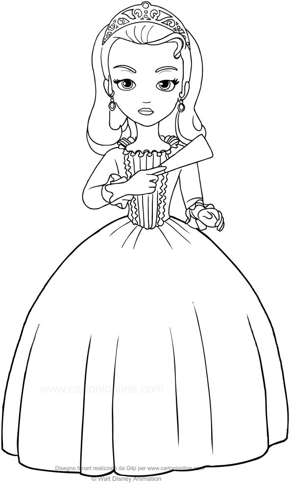 Sofia The First Amber Coloring Pages In 2020 Disney Princess Coloring  Pages, Coloring Pages, Disney Princess Colors - Coloring Home
