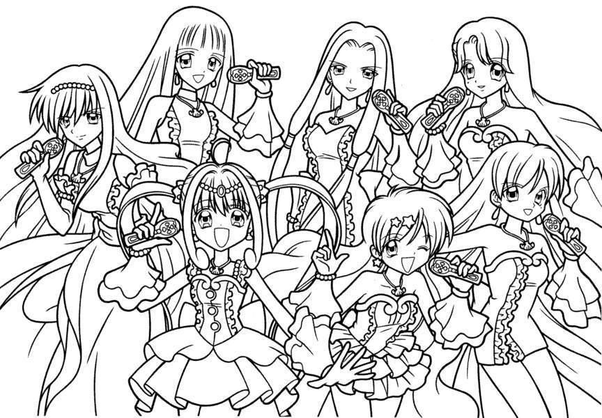 10 Pics Of Girl Coloring Cartoon Page Girl Cartoon Characters