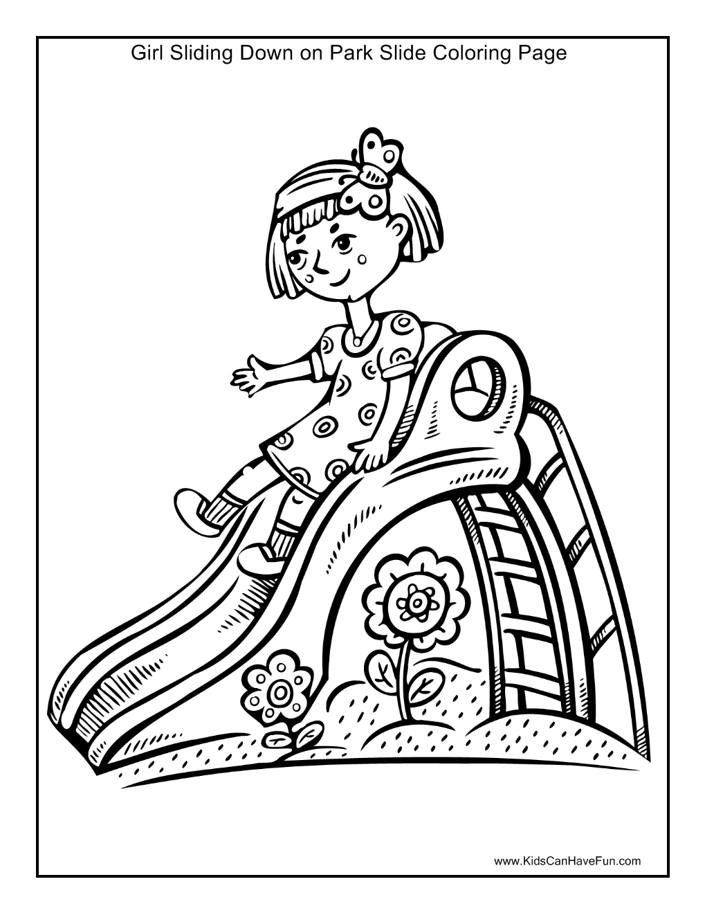 water slide coloring pages - photo#32