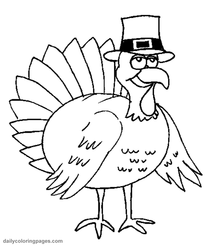Coloring Pages Turkey Cartoon