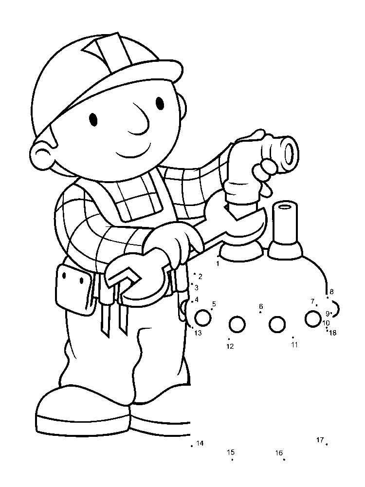 bob the builder coloring pages download and print bob the builder