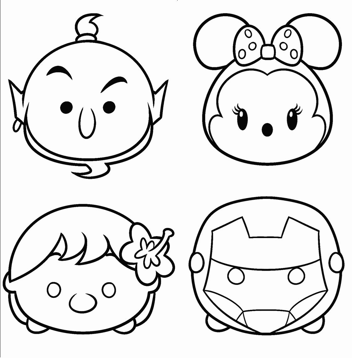 Tsum Tsum Coloring Pages Coloring Home