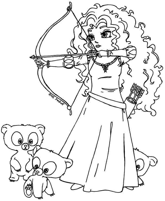 Merida Coloring Pages - Coloring Home