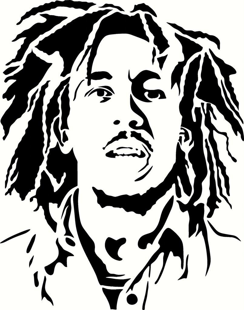 Bob Marley Coloring Pa...