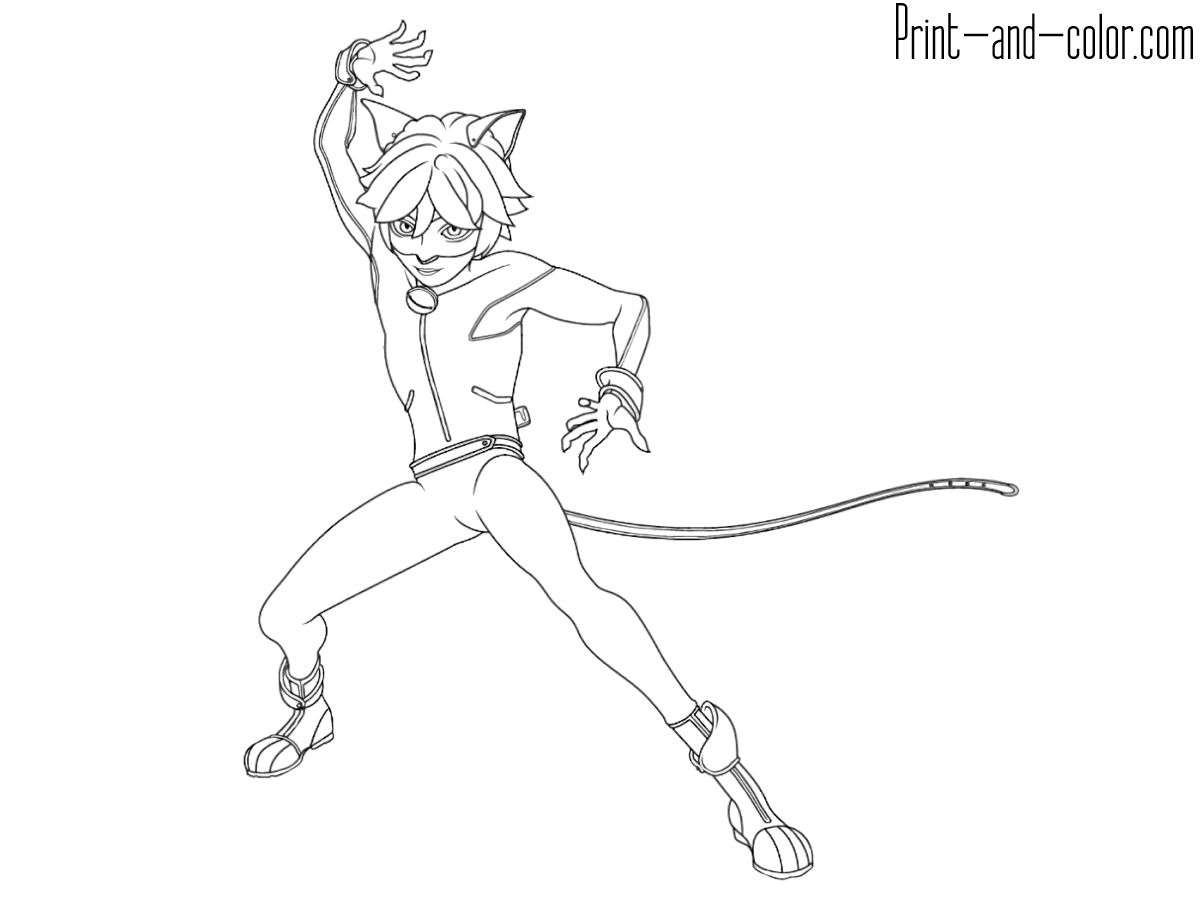 Miraculous: Tales Of Ladybug & Cat Noir Coloring Pages ...