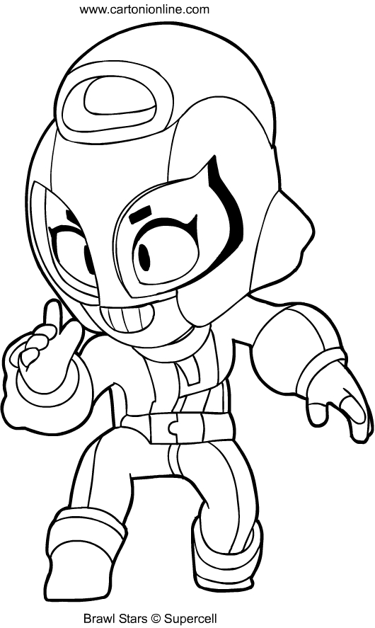 Max from Brawl Stars coloring page
