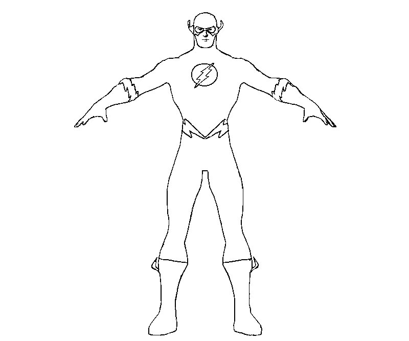 Flash 16 Superheroes Printable Coloring Pages Coloring Home