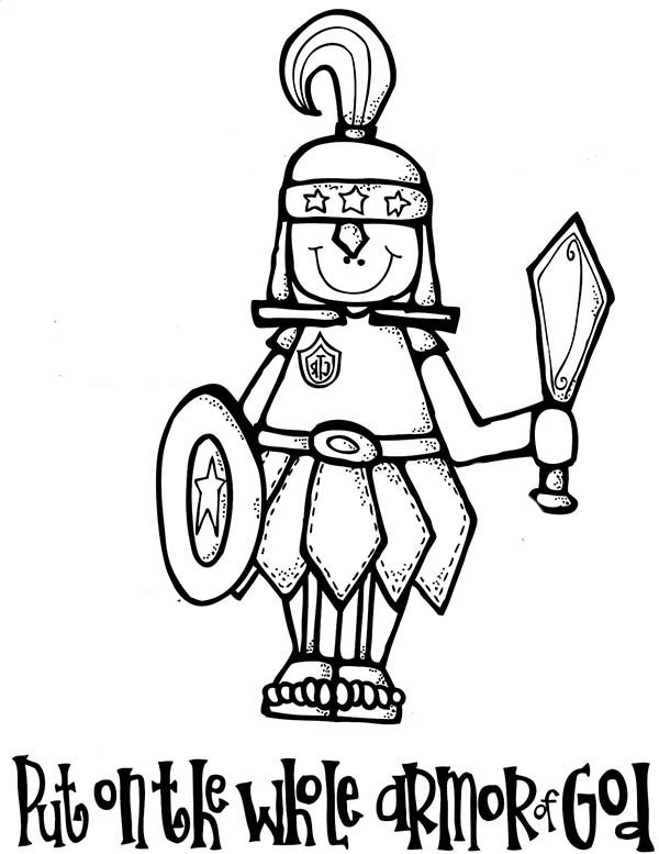 printable armor of god coloring pages - full armor of god coloring sheet sketch coloring page