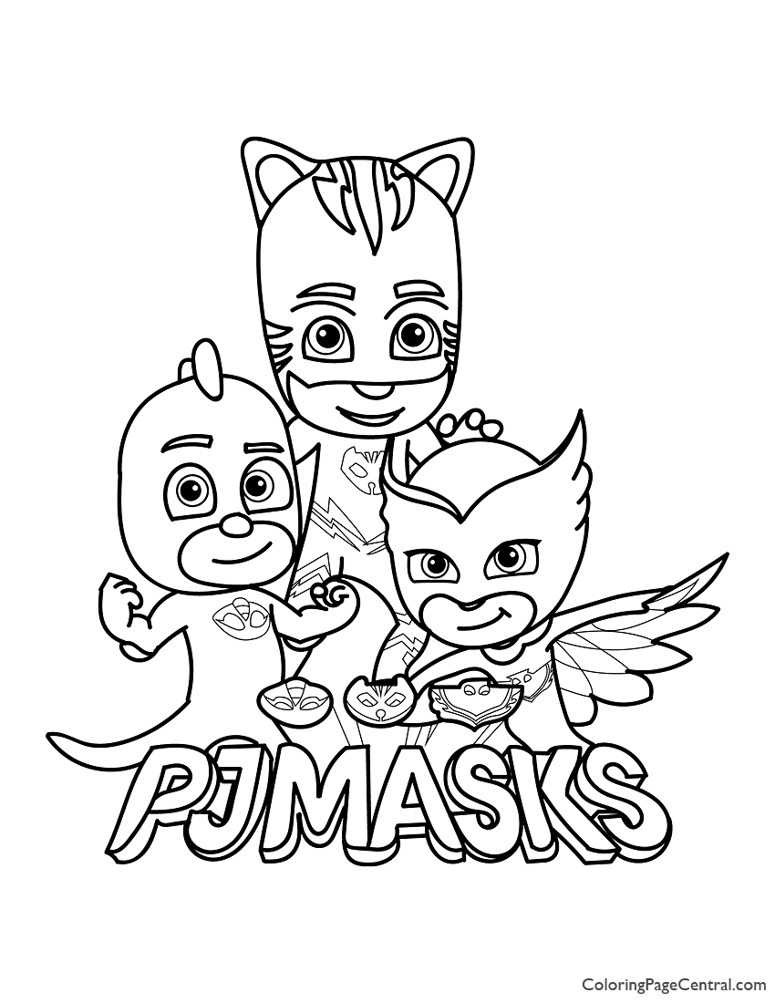It's just a photo of Pj Masks Coloring Pages Printable throughout pj mask luna girl
