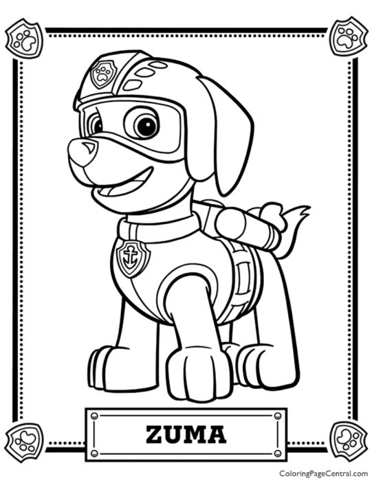 Rubble Coloring Pages Coloring Home