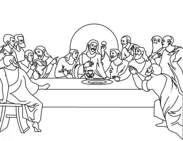 The Last Supper Coloring Page - Coloring Home Da Vinci Last Supper Coloring Pages
