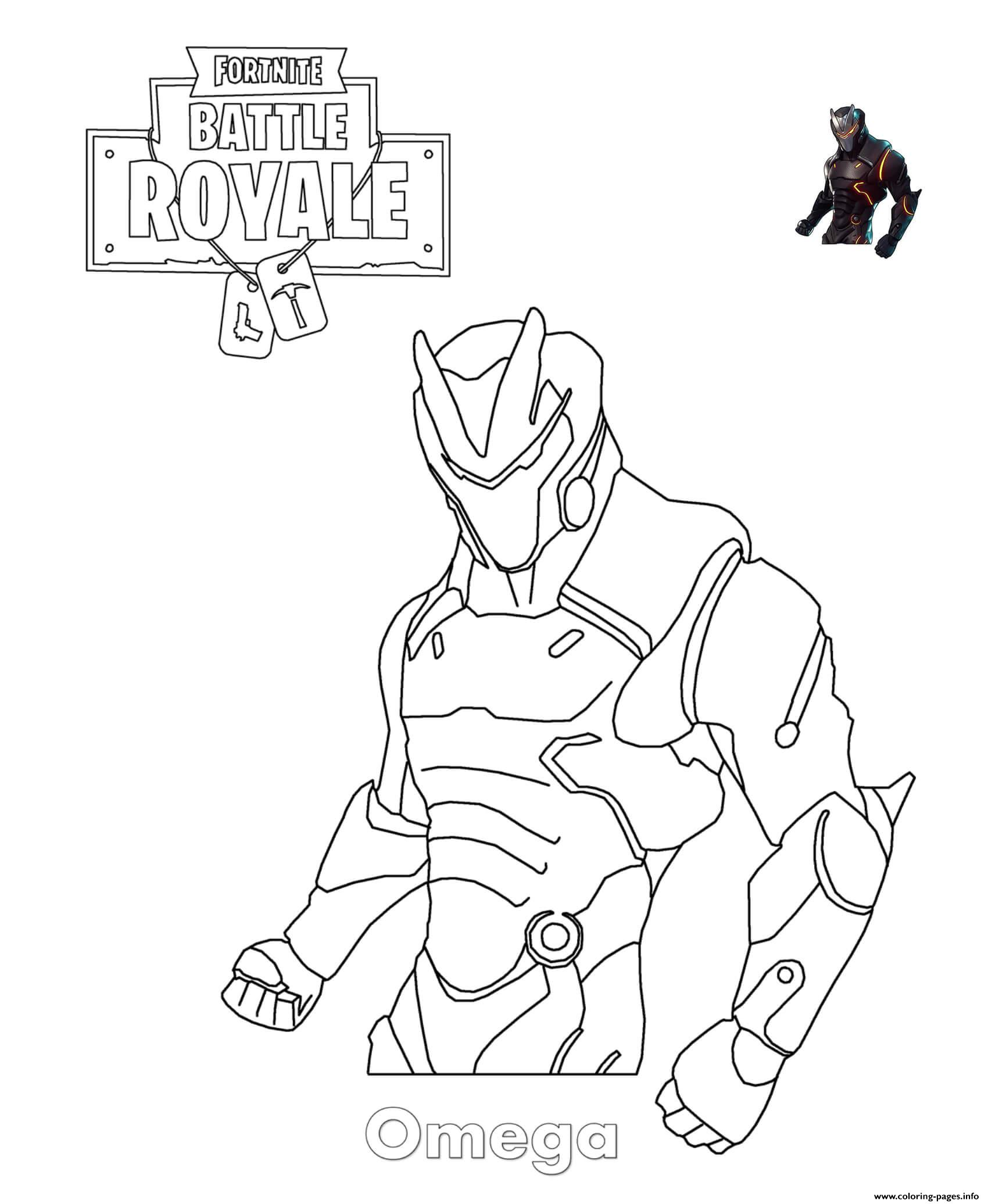 Omega Fortnite Coloring Pages Printable Coloring Home