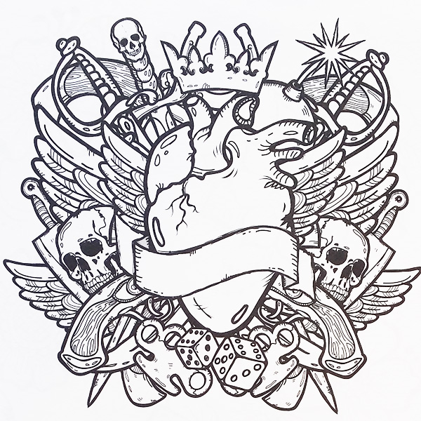 Free Printable Tattoo Coloring Pages For Adults - Coloring Home