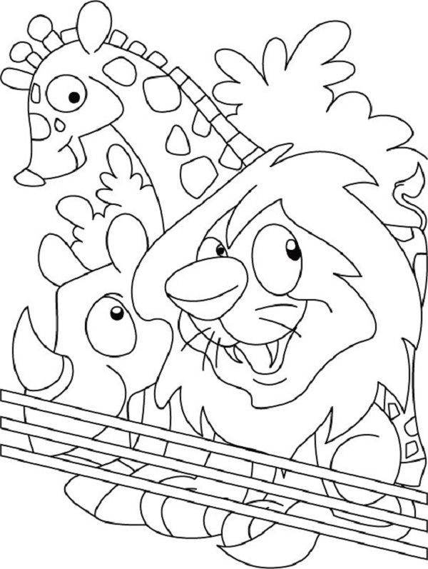 zoo kindergarten coloring pages - photo#27