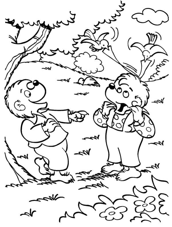 Brother And Sister Berenstain Bear In The Wood Coloring Pages