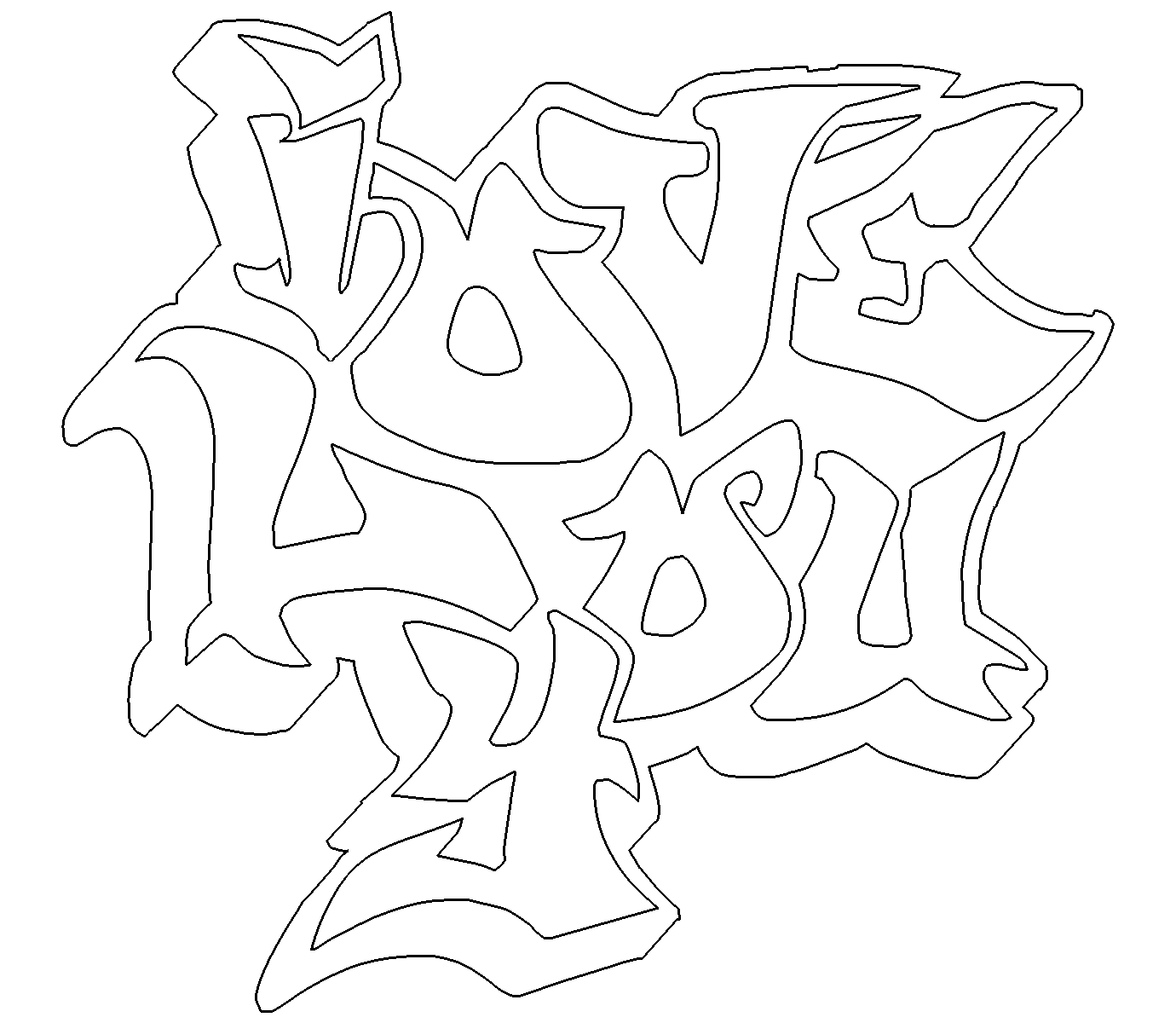 get inspired for love graffiti coloring pages