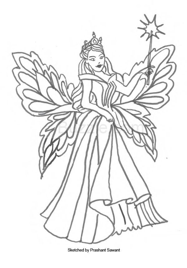 Free Printable Tooth Fairy Coloring Pages - Coloring Home