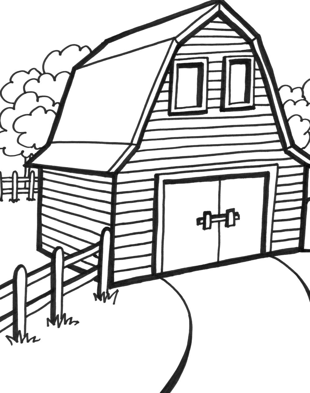 farm house coloring pages - barn printable coloring pages coloring home