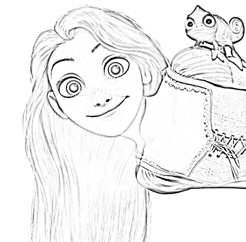 8 Pics Of Disney Tangled Pascal Coloring Pages