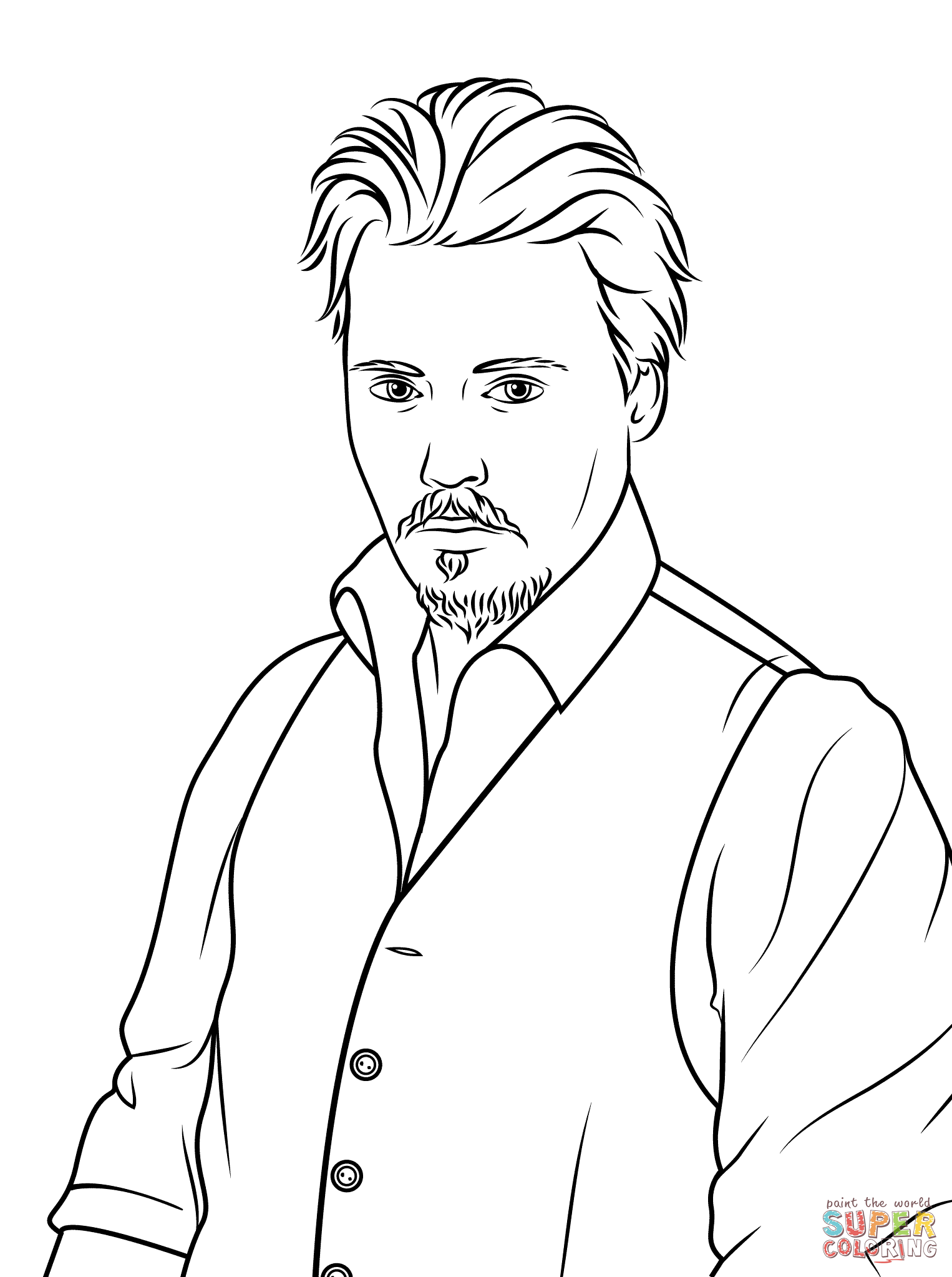 Johnny Depp Coloring Pages