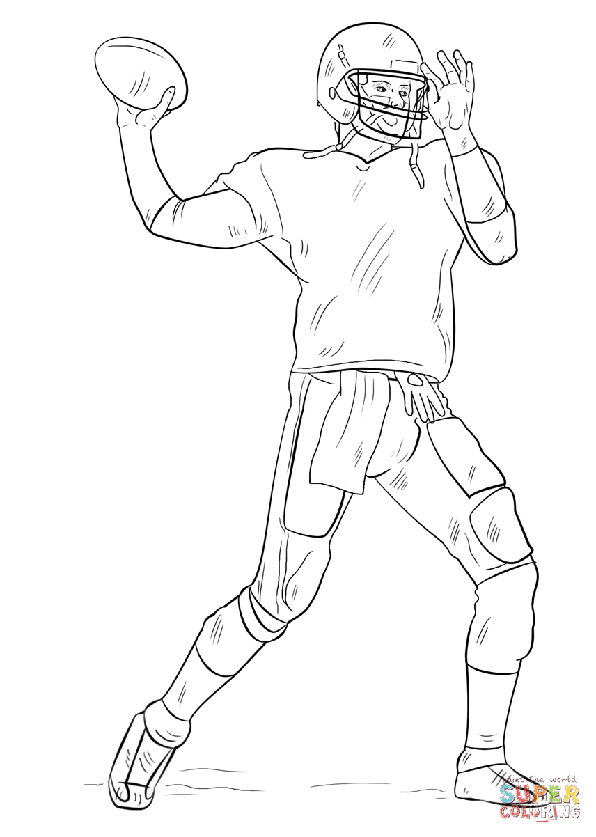 Tom Brady Coloring Pages Printable - Coloring Home