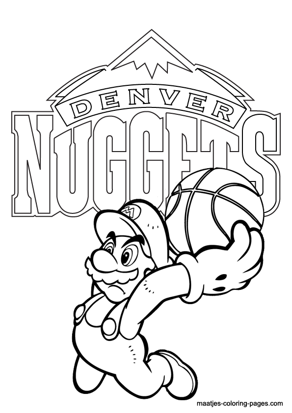Broncos logo coloring page coloring home for Denver broncos coloring pages print