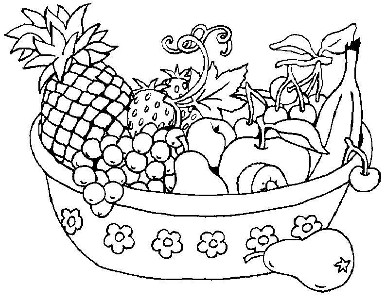 - Fruit Basket Coloring Pages To Print - Coloring Home