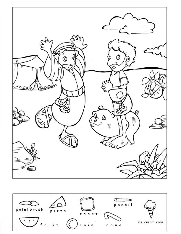 Prodigal Son Coloring Pages 92 Free Printable Best Prodical ...   792x612