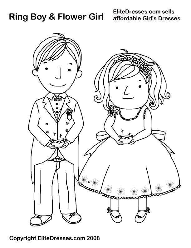 Girl's Dresses Coloring Pages that are free and printable