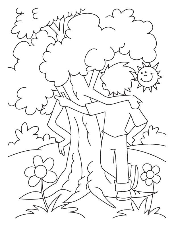 The Giving Tree Coloring Pages Coloring Home