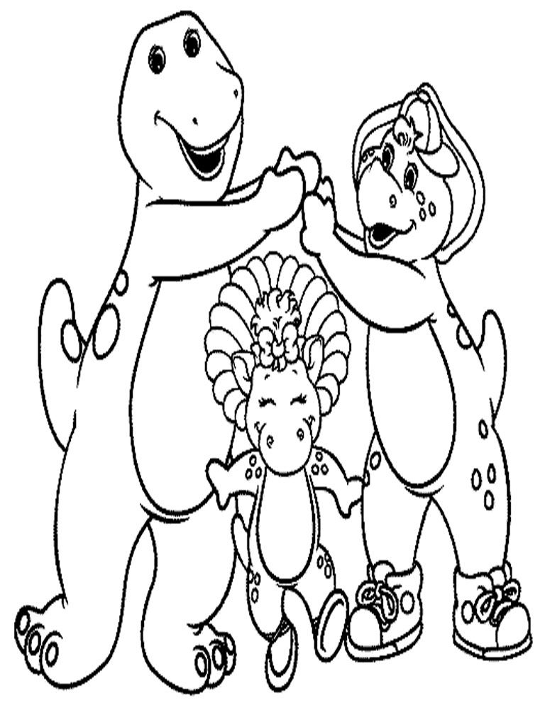 Barney Birthday Coloring Pages