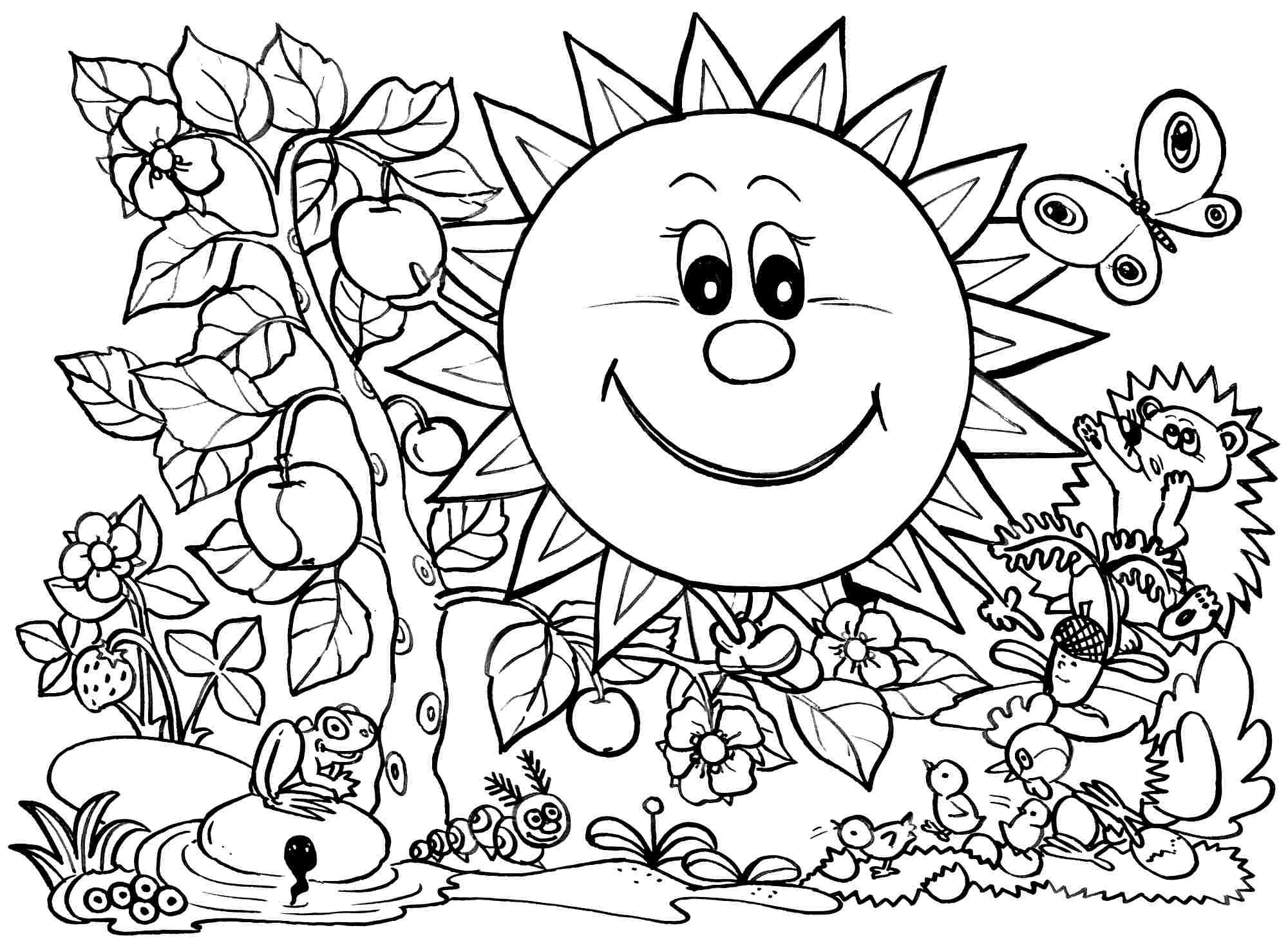 Free Coloring Pages Spring Season Coloring Home