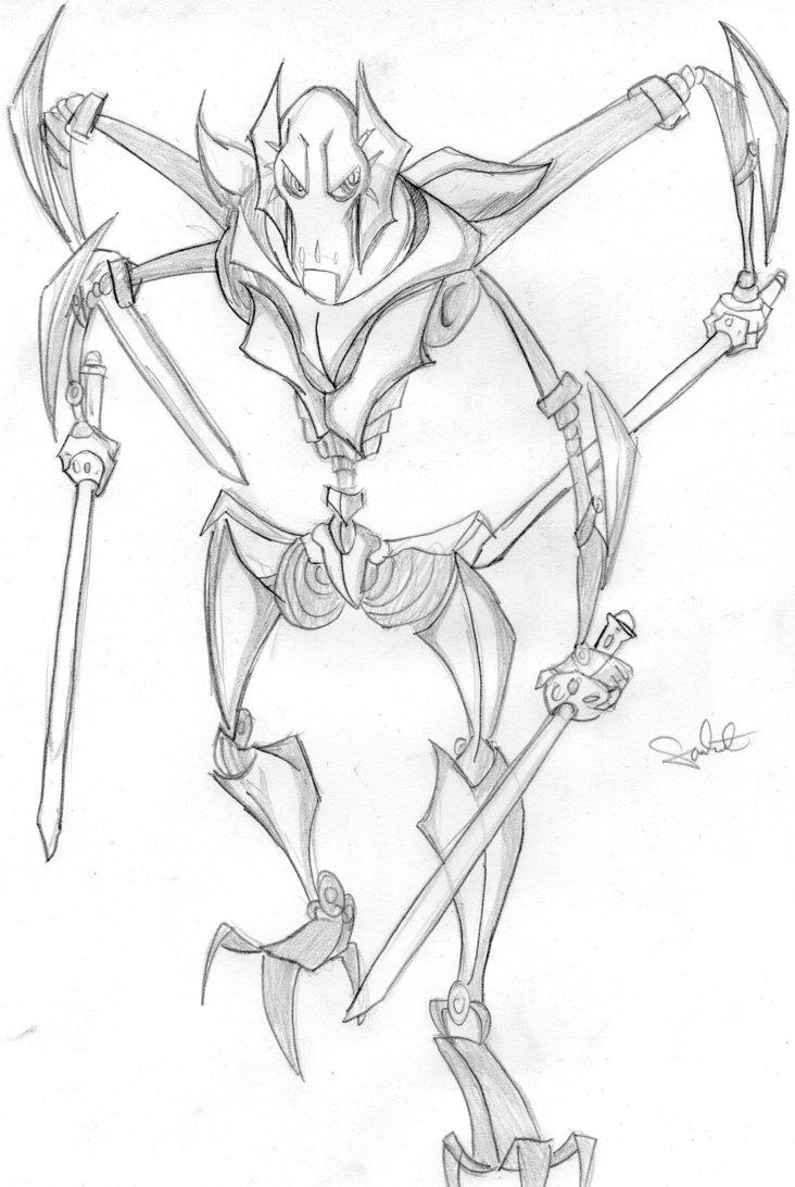 general grievous coloring sheet pages - photo#11