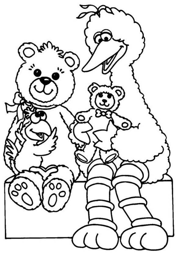 Pin street elmo with acorn sesame coloring pages on pinterest for Sesame street number coloring pages