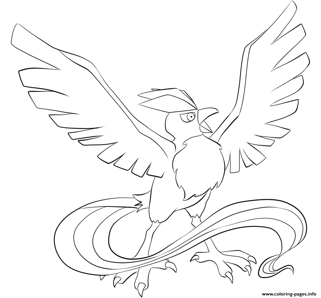 Pokemon Coloring Pages Articuno