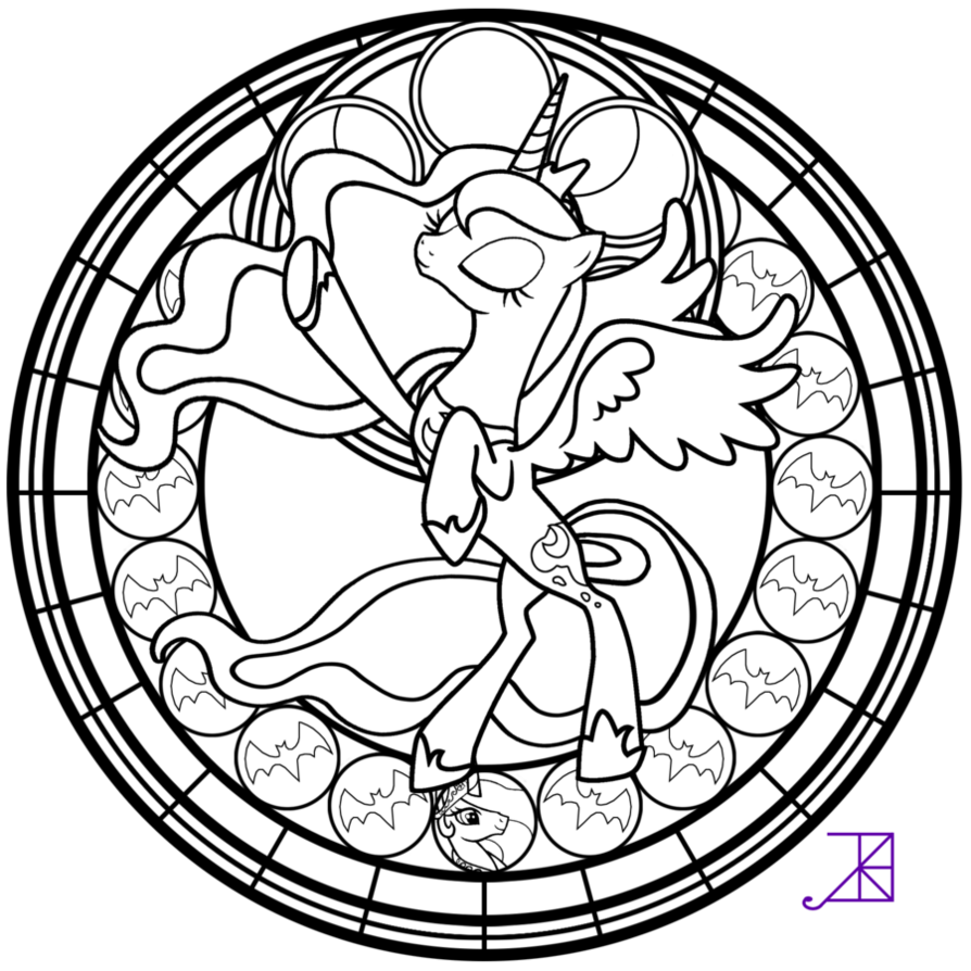 My Little Pony Princess Luna Coloring Pages Coloring Home