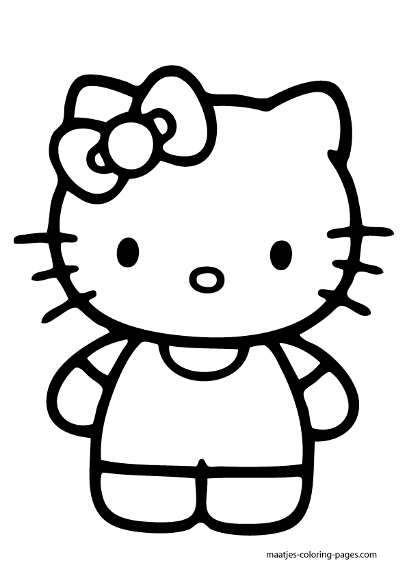Easy Way to Color Hello Kitty Coloring Page - Toyolaenergy.com