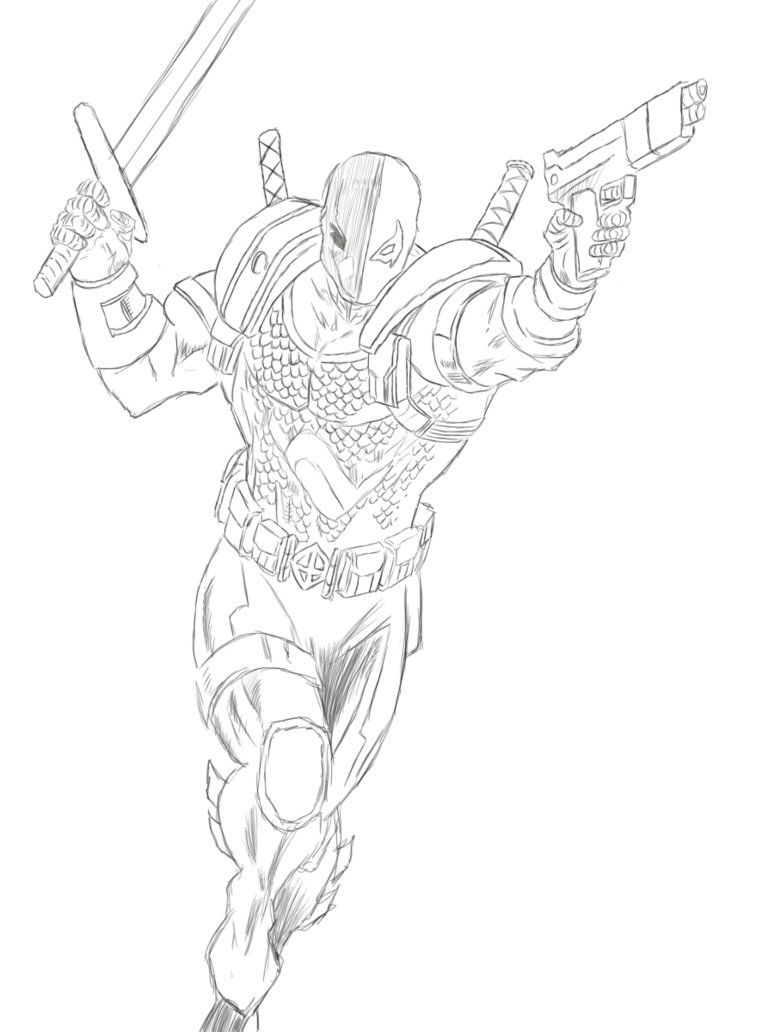 coloring pages of deathstroke injustice - photo#1