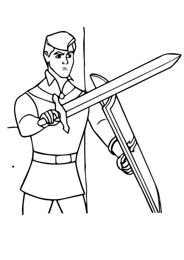 It is a picture of Insane Prince Coloring Page