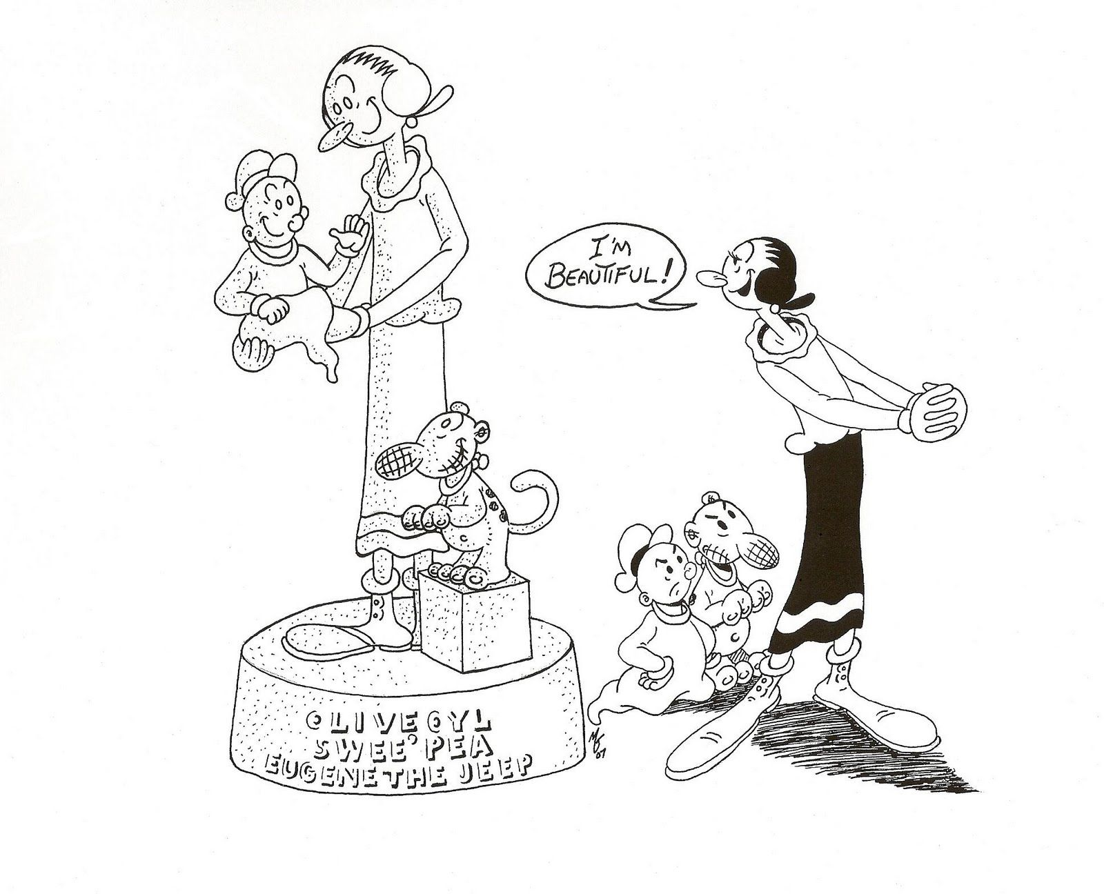popeye olive oyl coloring pages - photo#29