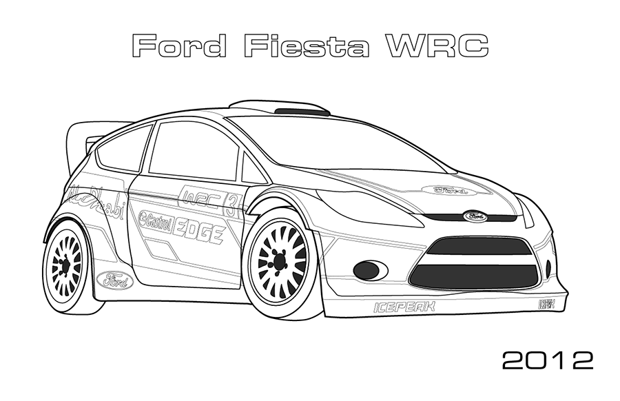 Coloring Pages Cars Pdf : Rally cars car coloring pages home