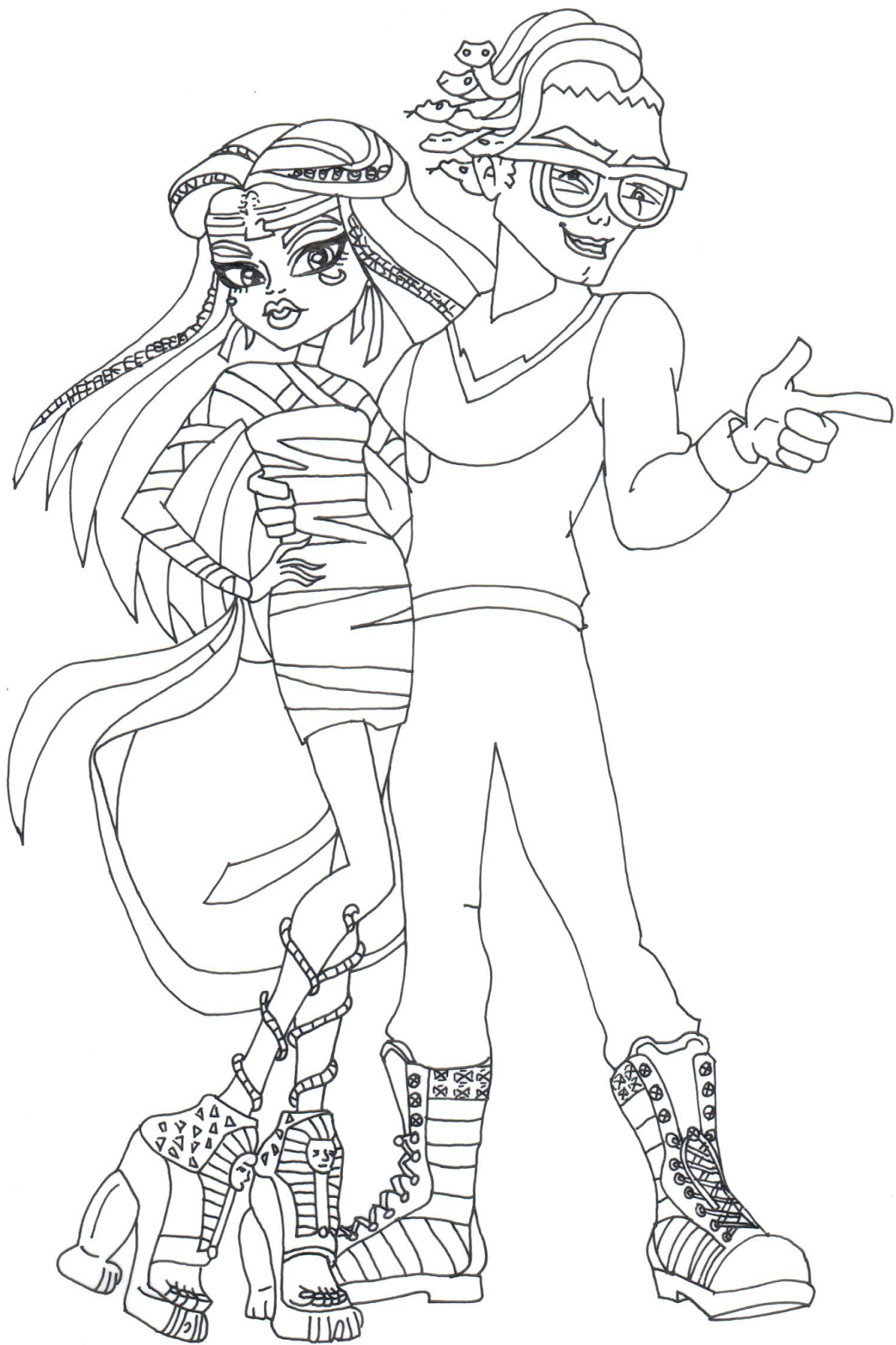 Free Printable Monster High Coloring Pages Boo York Cleo And Coloring Home