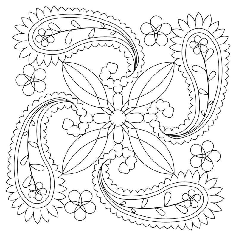 Paisley coloring pages printable coloring home for Paisley designs coloring pages