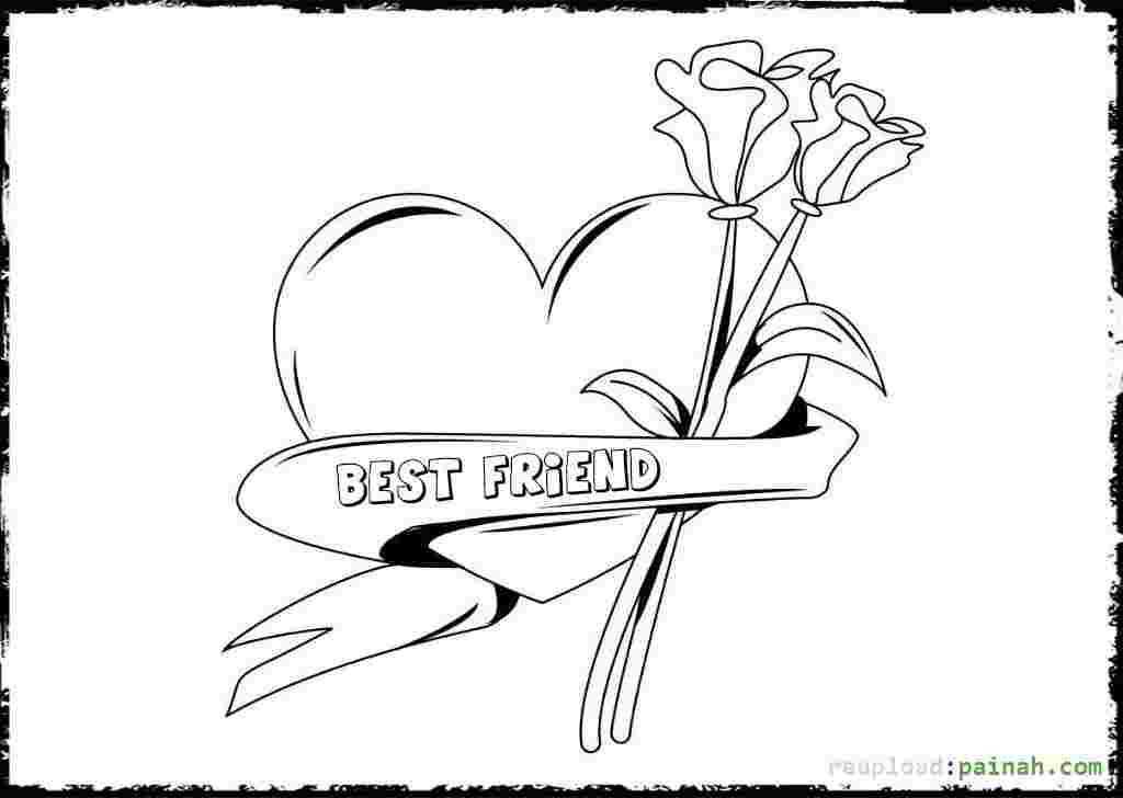 Coloring Pages Of Two Best Friends Best Friends Coloring Page Coloring Home