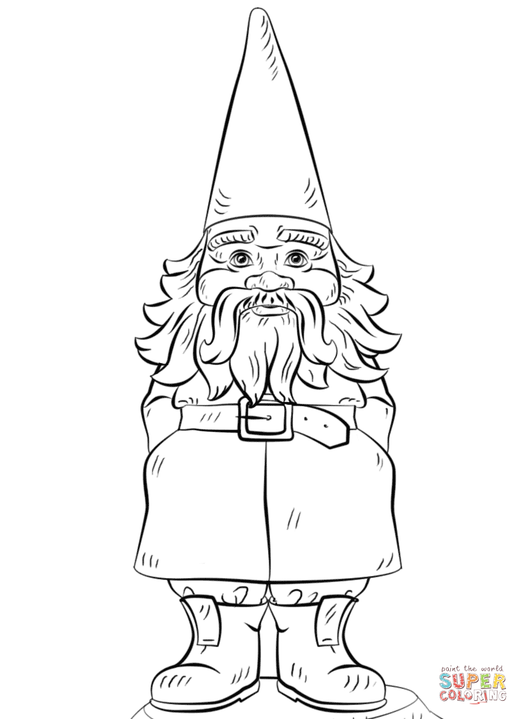 Garden Gnome Coloring Page Free Printable Coloring Pages Coloring Home