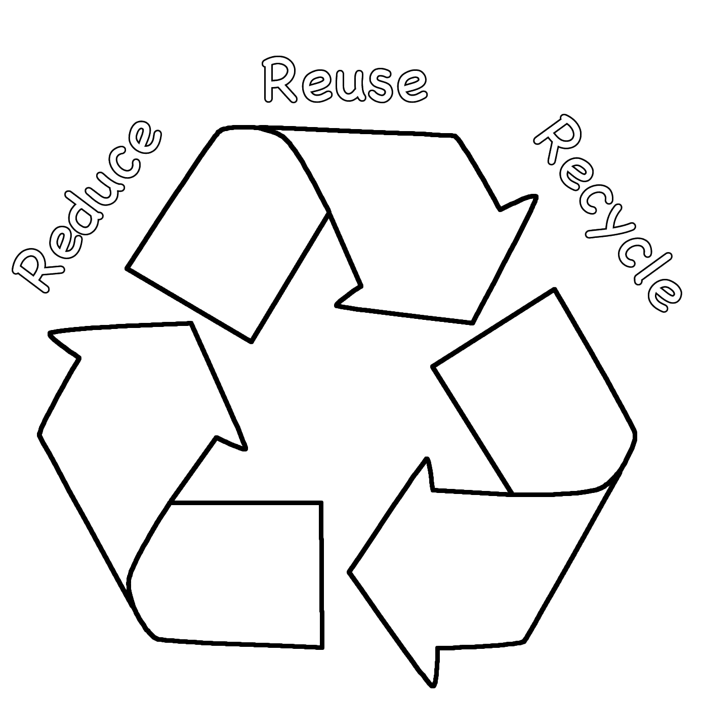 Recycling Coloring Pages For Kids - Coloring Home