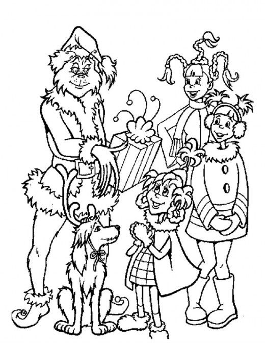 The Grinch Coloring Page Coloring Home Free Printable Coloring Pages Of How The Grinch Stole