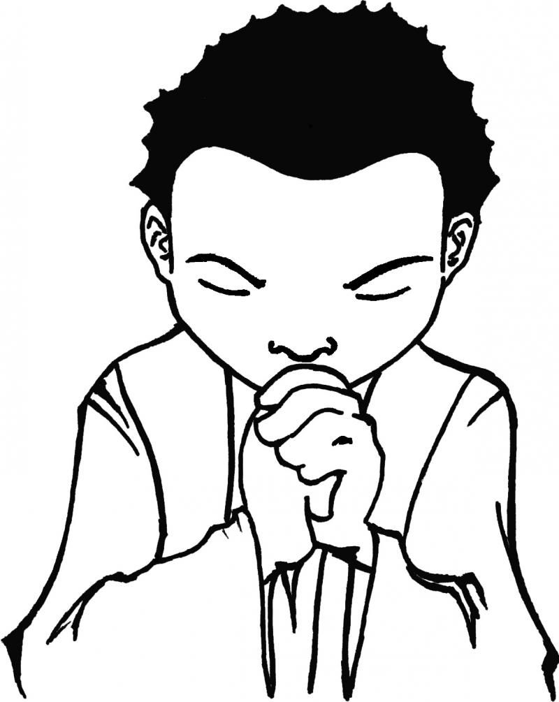 Children Praying Coloring Page Coloring Home Child Praying Coloring Page