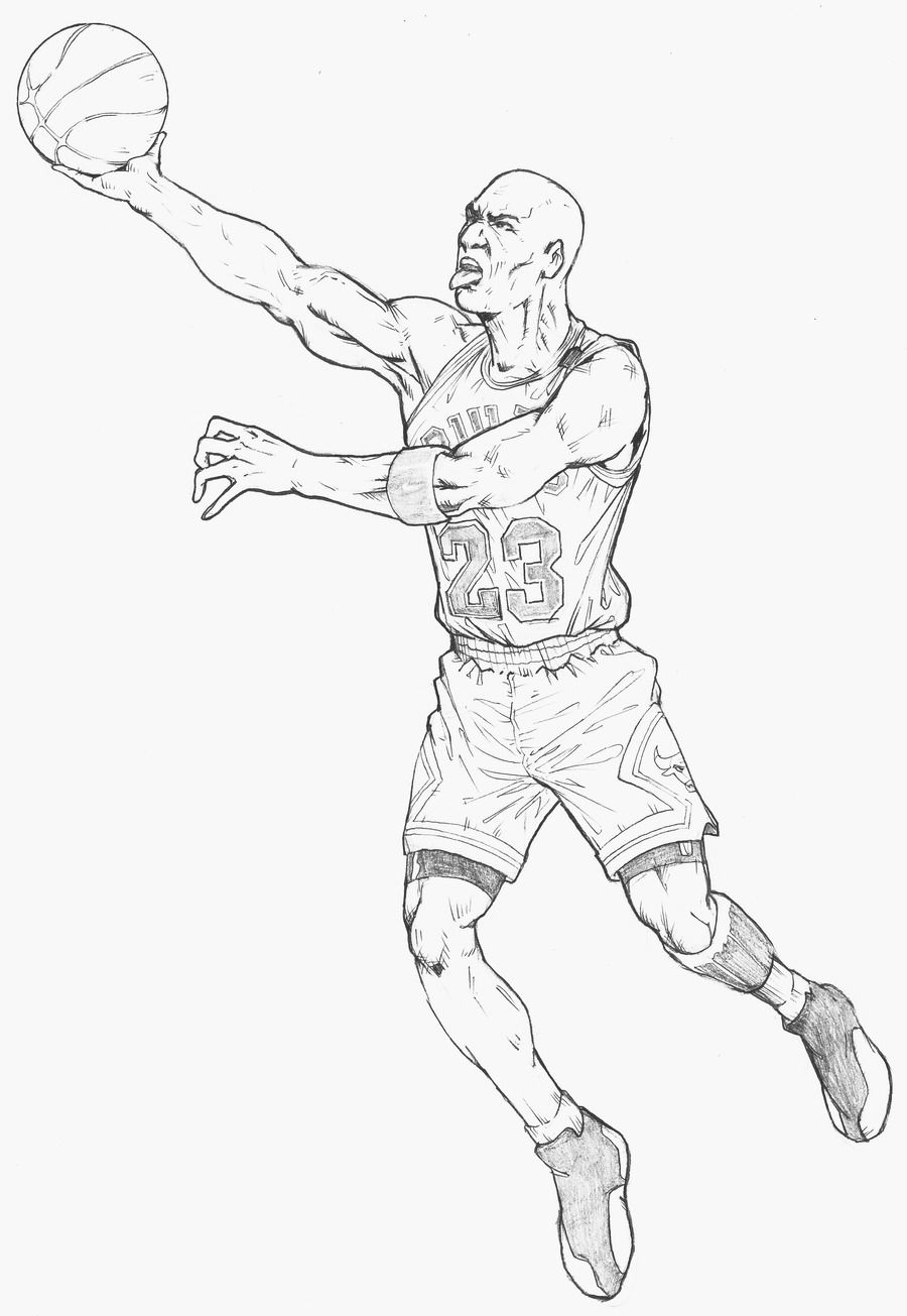 Michael Jordan Coloring Page Coloring Pages For Kids And For